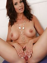 Eating Pussy, Curvy aged milf Wendy gets her cunt wet within the shower.