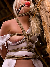 Hairy Pussy, Beautiful Russian blonde tries bondage for the first time