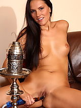 charlie angel 04 tight pussy stuffed with shisha and dildos