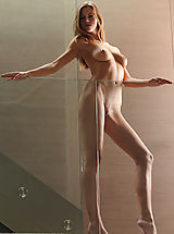 X-Art Pussy: Supermodel Eufrat poses nude in the House of Glass...
