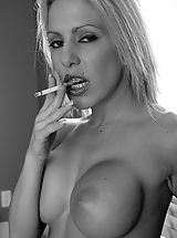 Brutal Dildos Pussy: Kream Smoking In Black And White