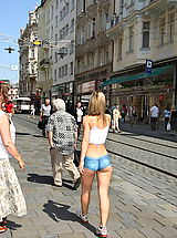 Outdoors Pics: susana spears 02 bodypainting public nudity