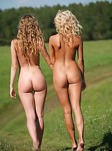 Femjoy - Nicolle, Anju in Going For A Walk