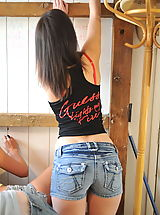 Jeans Babes: StMackenzies on October10 Carole Hunt and Danielle Mayes and Jade-Victoria Price