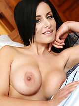 Hard Nipple Babes: Alex_black - Horny mom sticks her dildo deep in her twat until she drips