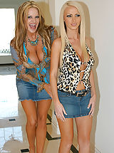 Nikki Benz and Kelly Madison ran into each other at the beauty salon little did she know she'd get the facial of a lifetime.