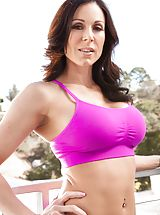 tankini, Kendra Lust Sexy Slut exposes her uncovered tits, draws down her under garments and opens her limbs and diddles her tight slit