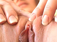 Pussy Movie, Dani squeezes her pussy together