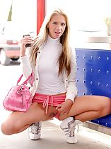 FTV Girls Pics: Suzanna shows off her sweet pussy