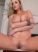 Busty blond Katie Kox celebrates her anniversary by fucking and sucking her husbands big dick.