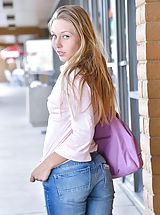 Jeans Babes: Brianna Timid in Public