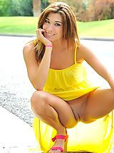 Hannah is hot in yellow
