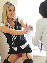 Secretaries in High Heels Candice Collyer and Kayleigh Williams 2 in October 2011