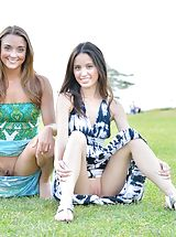 Mary and Aubrey Pantiless in Hawaii