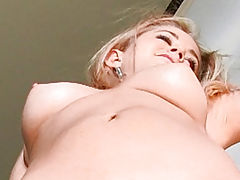 Casy pulls her pussy wide