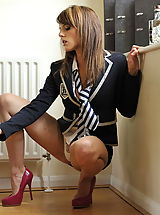 UpSkirts Babes: Secretaries in High Heels Headmistress Mackenzie 2 in July 2011