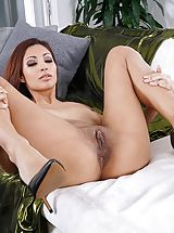 Wet Cunt, Photo Set No. 1348 Jade Jantzen unveils her own sizeable cans and bares her own solid slit