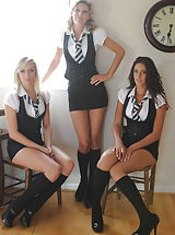 St. Mackenzies Pics: Student Charlotte-Louise Johnson and Holly Newberry and Nicola Rocco
