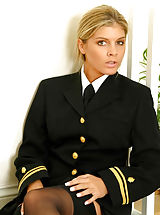 Mac & Bumble Pics: Naval uniform with black stockings