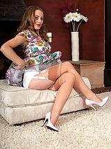 Lingerie Babes: Tricia West - Satin panties and me...