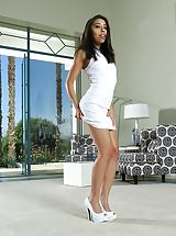 Au Naturel Sizzling Hoe in Shooting 1231 Jasmine Summers Innocent looking girl seems getting a very dirty slut, she peels down her wardrobe, exposing her natural funbags, lifts up her short dress and yanks down her under wear, to expose her virgin alike b