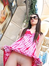 UpSkirts Babes: Lacey flashes pink