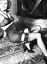Stockings Pussy: Old Fashioned Women