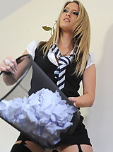 St. Mackenzies Pics: Secretaries in High Heels Candice Collyer and  Messy Classroom in April 2011