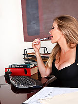 Dyanna Lauren,My First Sex Teacher,Alan Stafford, Dyanna Lauren, Stranger, Teacher, Desk, Office, Great, Blonde, Blow Job, Deepthroating, Facial, Fake Breasts, High Heel Pumps, Mature, Stockings, Swallowing, Tattoos,