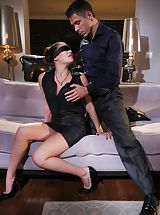 Mick Blue, London Keys Sinful Female uncovers her uncovered breasts, draws down her knickers and spreads her limbs and diddles her wet snatch
