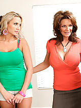 One lucky guy gets to screw both Alanah Rae and milf Deauxma in this sexy threesome
