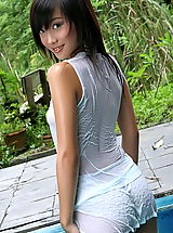 The Black Alley Pics: Asian Women lolita cheng 10 water pool wet shirt small tits