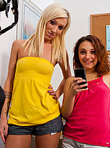 Girlfriends Pussy: 2 Hot Students want to ride their teachers massive cock and suck him until they all orgasm.