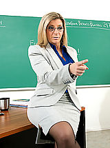 Naked Babes, Sara Jay shows her student what it's like to fuck a teacher with huge tits.