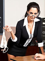 Secretary Babes: Ava Addams shows one of her students what it takes to get an A in her class.