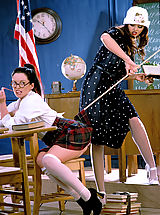 Suze Randall Pics: Naughty Drew taunts her titillating teacher Stacy Moran for a spanking and so much more!